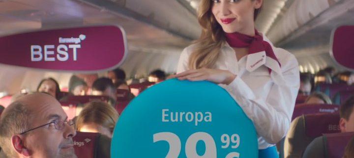 Eurowings Werbespot Thumb mit Komparsen